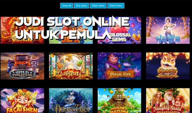 Judi Slot Online Untuk Pemula